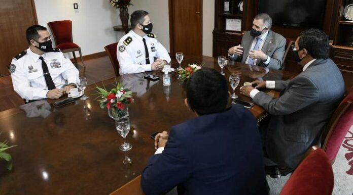 Jaldo recibió a la Policía de Seguridad Aeroportuaria